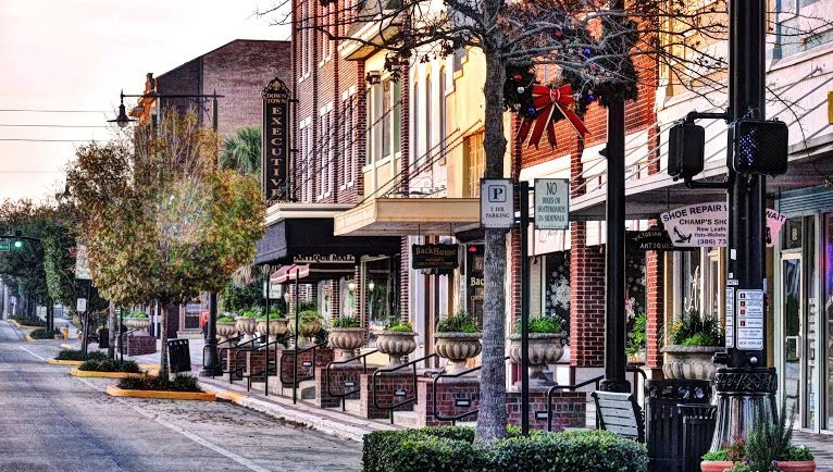 historic downtown shops photo